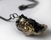 ELISA - collier pierre naturelle - galène - pyrite - quartz
