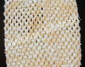 6 inch Ivory Crochet Headband, tube top, halter top, headbands