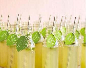 Milk Vases , Drinking, Vintage, Glass Bottles - Set of 48, Weddings, Baby Showers, Bridal Showers, Mason Jars Alternative.