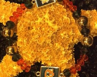Auburn Tigers Beaded Bracelet