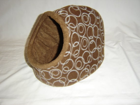Cute and snuggly brown with dots Hidey Hut