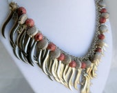 Silver Fire Dance Chain Necklace with textured accents