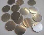 30 Aluminum disc 5/8 - 16mm -  24 gauge - Hand stamping metal blanks with hole
