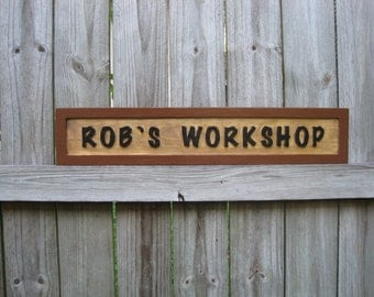 Personalized Workshop Sign - Routed - Workshop Sign