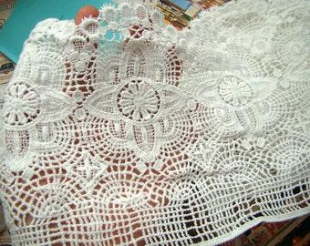 Cotton Lace Trim, cotton guipure lace trim, ivory lace trim