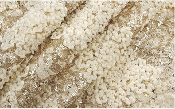 Champagne Gold Fabric Gold Bridal Lace Fabric