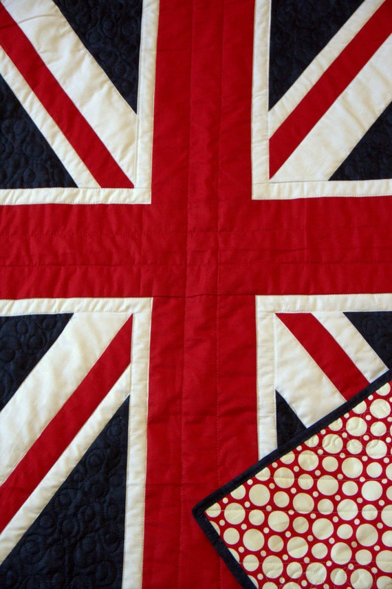 Sale British Quilt Baby British Flag English By Houseofdeveer