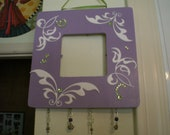 Whimsy Purple and Green Designed Charm Frame
