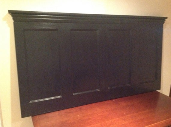 Wood Headboard for Queen or Full Size Bed Made of Reclaimed Wood
