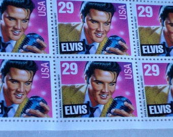 """Collectible """"Elvis"""" Stamps....1992 Full Uncut Elvis Stamp Sheets (LDP1)"""