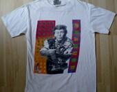 Vintage Sir PAUL MCCARTNEY 1989-1990 World Tour T Shirt BEATLES Size Medium Thin