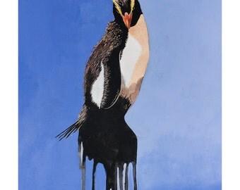 art print of original illustration, Penguin