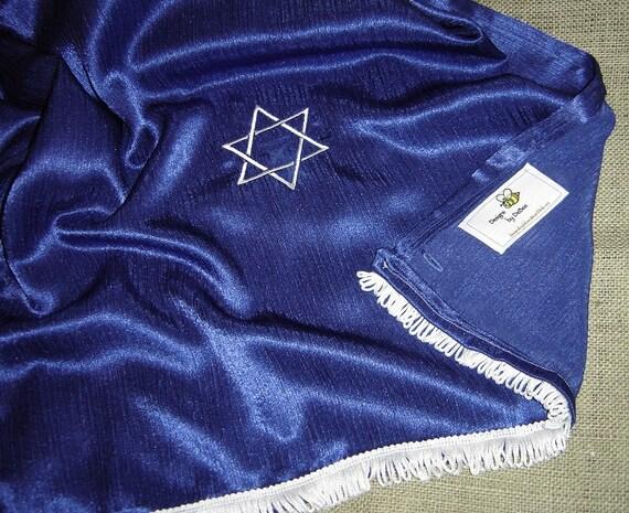Star of David Royal Blue Prayer Shawl