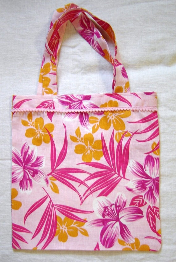 192 Pink Passion Pink Trimmed Tote Bag