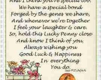 Aunt Lucky Penny Card