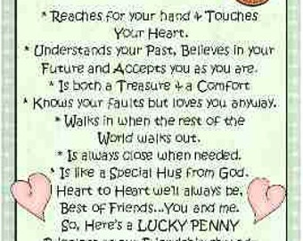 Best Friend Penny Card