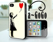 iPhone 4, iPhone 5, Samsung S3, Samsung S4 case Letting Go, Banksy Girl custom cell phone case