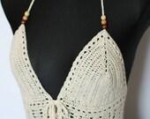 Crochet Top 100% Cotton Size S/M