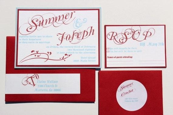 Wedding Invitations Tiffany Blue: Wedding Invitations Tiffany Blue Red And White By