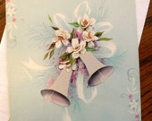 vintage cards ... WEDDING CONGRATULATIONS wedding bell Card with envelope...