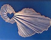 Aloha Maui Island String Art