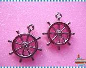4PCS Plastic Silver-plated rudder pendant