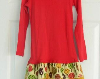 Thanksgiving Franny t-shirt dress Size S (Girls 6-6X)