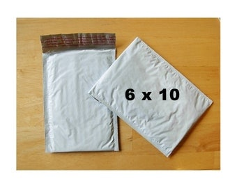 50 -  Poly Bubble Mailers - Padded Envelopes  - 6 in x 10 in (Size 0)