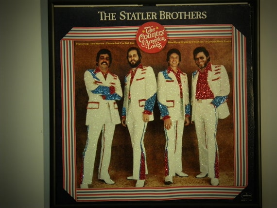 Glittered Record Album - The Statler Brothers