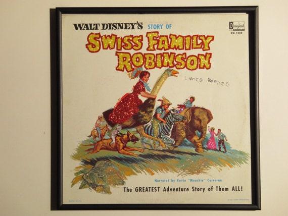 Glittered Record Album - Walt Disney - Swiss Family Robinson