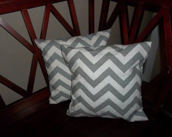 18x18 Gray chevron pillow cover