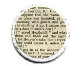 Wuthering Heights Heathcliff Pocket Mirror, Novel, Recycled, Books