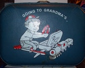 "Vintage ""Going To Grandma's"" Overnight Suitcase"