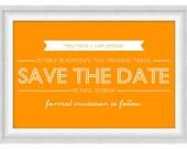 Printable Postcard: Save the Date - Banner - Horizontal A6 - Digital Design