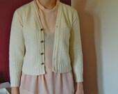 Cable knit Irish Aran cardigan