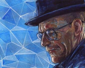 Breaking Bad Art Print - Heisenberg Portrait Wall Art - Walter White - Breaking Bad TV Show