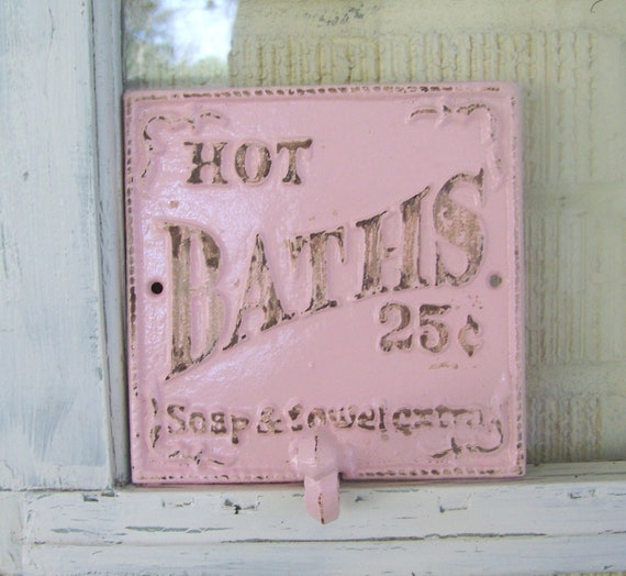 items similar to decorative cast iron bathroom hook shabby chic decor