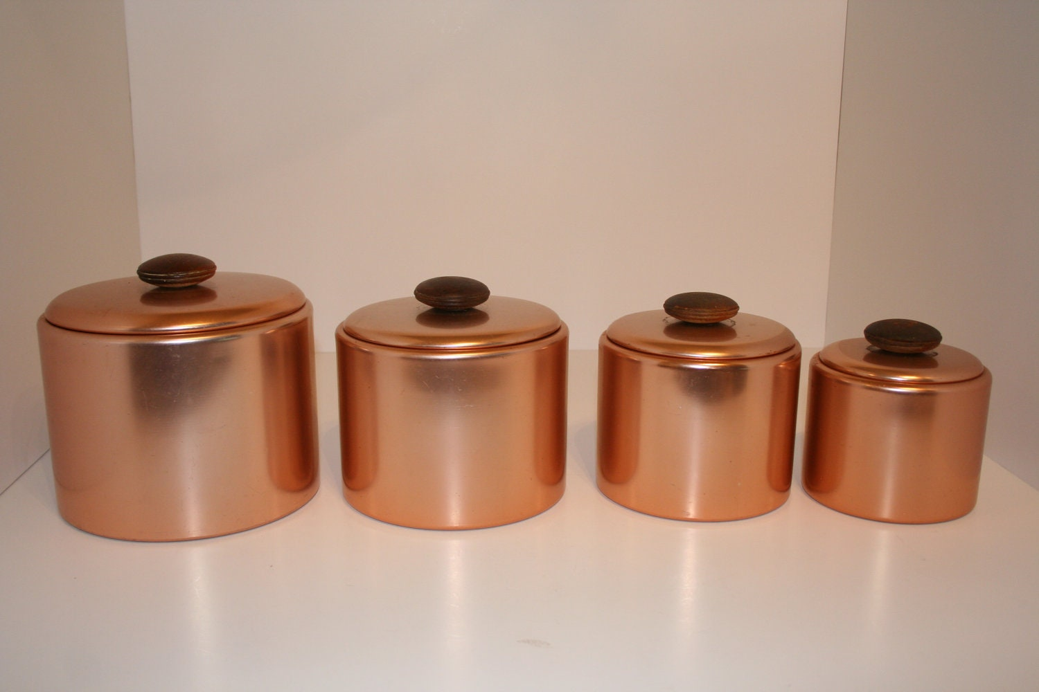 Copper Colored Kitchen Canisters