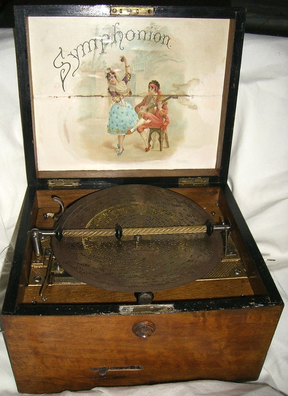 Vintage Antique Symphonion Music Box 468167 Plays Wonderfully Fully Cleaned