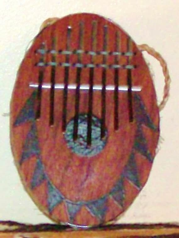 """African-style can-based """"thumb piano"""" (kone)            FREE DOMESTIC SHIPPING"""