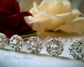 6 Rhinestone Bridal Hair Pins Swarovski Crystal Wedding Hair Pins Wedding Hair Clip Bridal Bobby Pins Rhinestone Bobby Pins Bridal Hair Pins