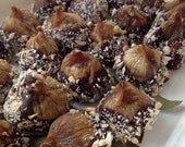 Stuffed Dried Figs with Chocolate Ganache & Roasted Hazelnuts - Tin of 8