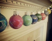 HOLIDAY SALE Hand Painted Mini Bulbs. Inspired by vintage glass ornaments.