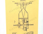 "Vintage steampunk U.S. Patent Prints of Henry Ford's MOTOR CARRIAGE, measuring 7.5"" x 10"""