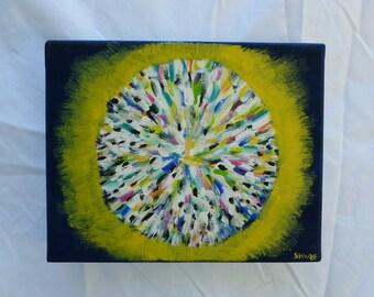 Burst from the Sun, An Acrylic on Canvas