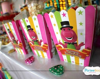 Customized Party Packs / Goodie Packs / Door Gifts (Barney Theme) x 10 pcs