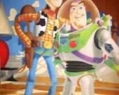 Disney Pixar Toy Story Woody & Buzz Lightyear Fleece Panel Throw Blanket