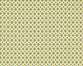 CLEARANCE Denyse Schmidt fabric Circle Cross in Green , 1 yard Chicopee