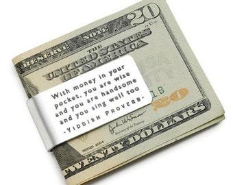 Custom Made Yiddish Proverb Money Clip