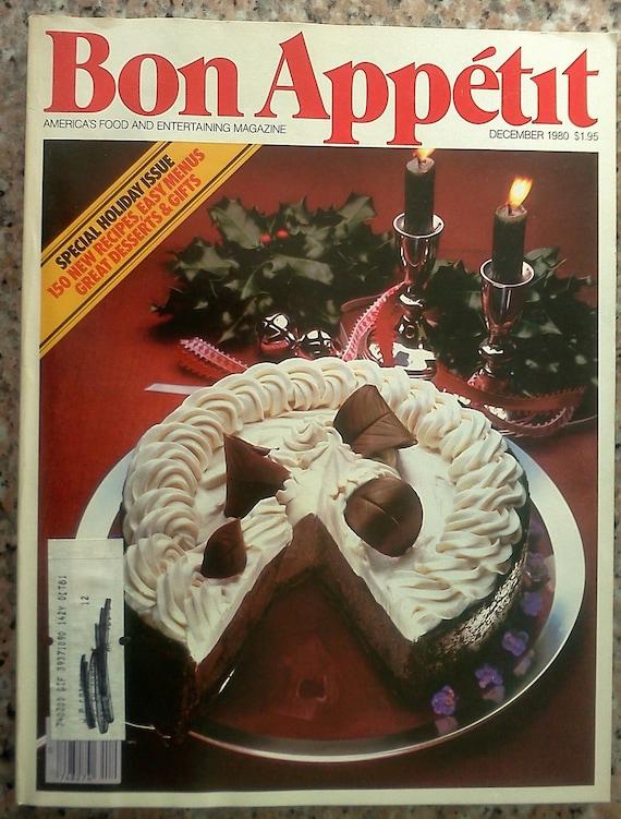 Vintage Bon Appetit Christmas Entertaining Holiday Baking   Bon Appetit Christmas Recipes